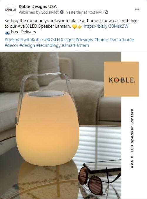 Social Media Posts for Furniture
