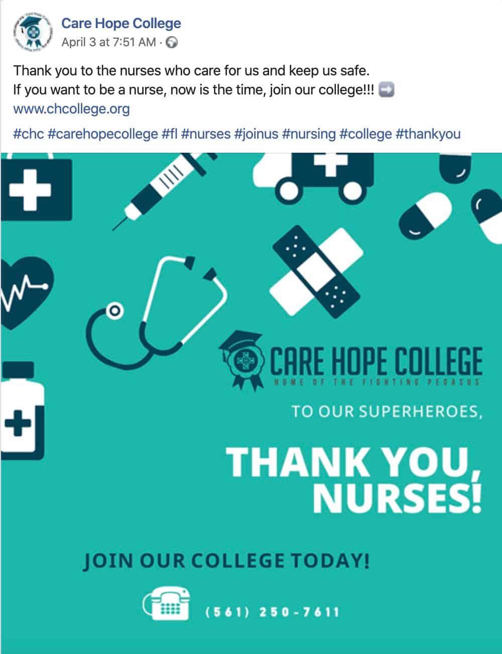 Nursing Industry Social Media