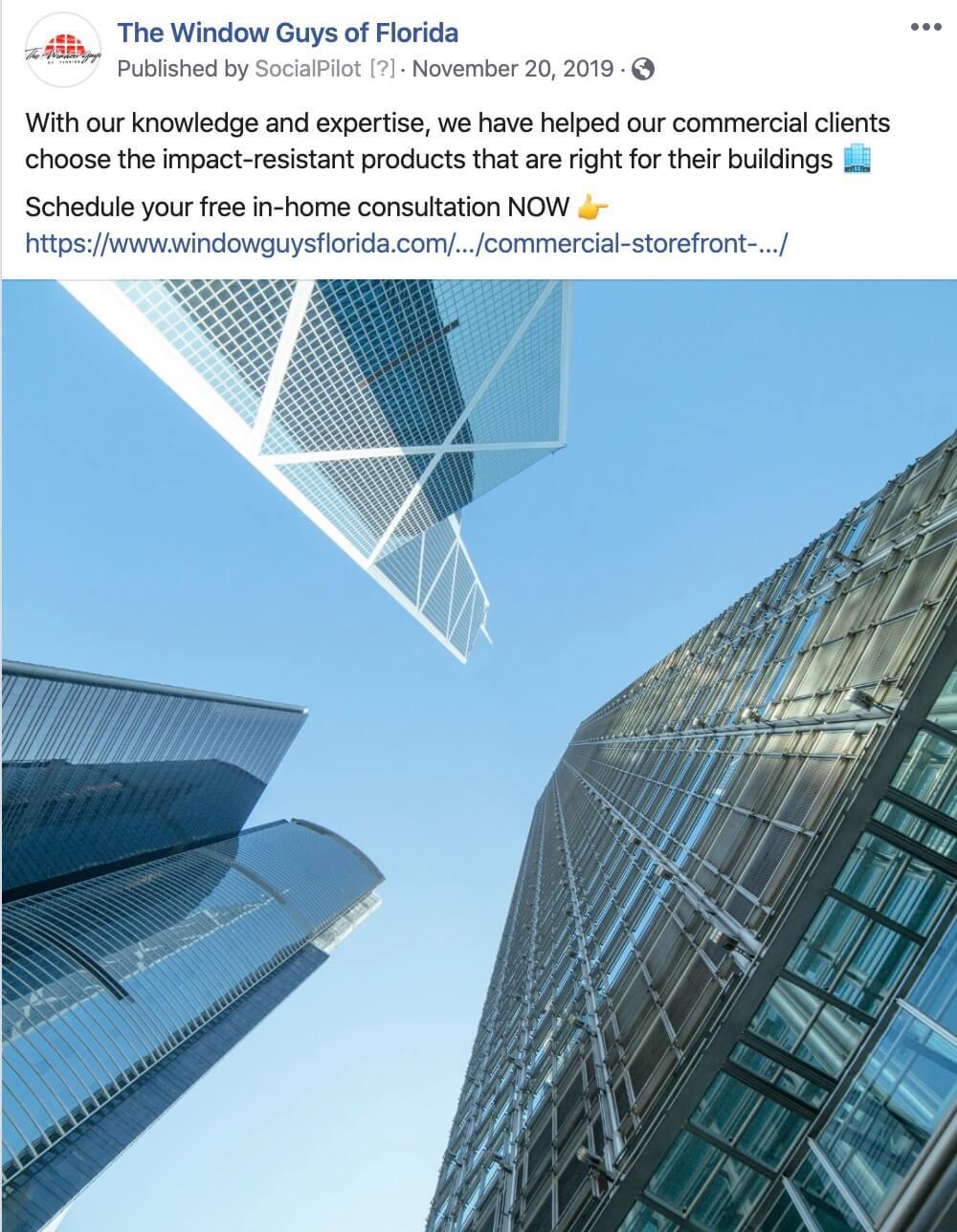 Commercial B2B Construction Social Content