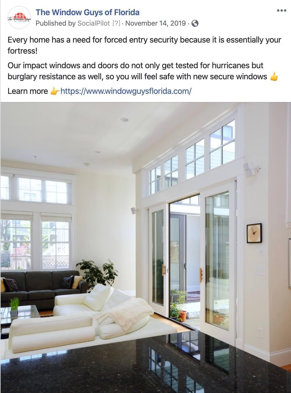 South Florida Window Company Social Media Management