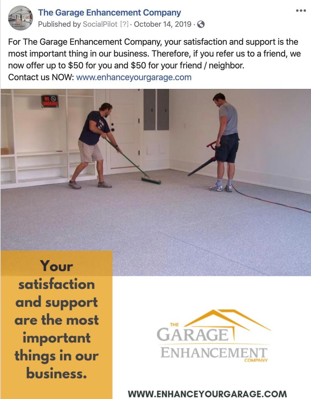 Garage Flooring Company Social Media Management Business