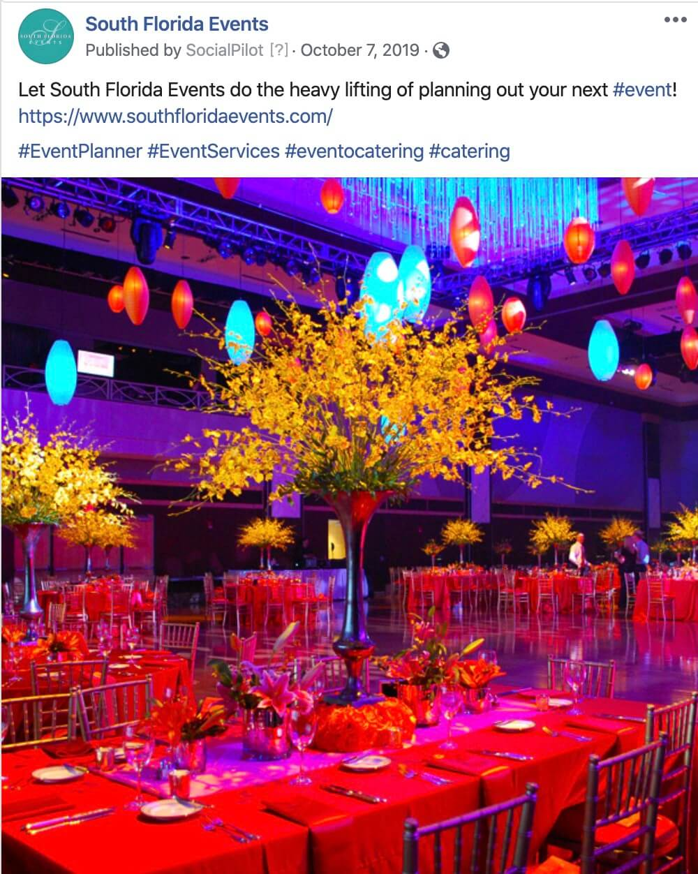 Social Media Postings for Event Planners