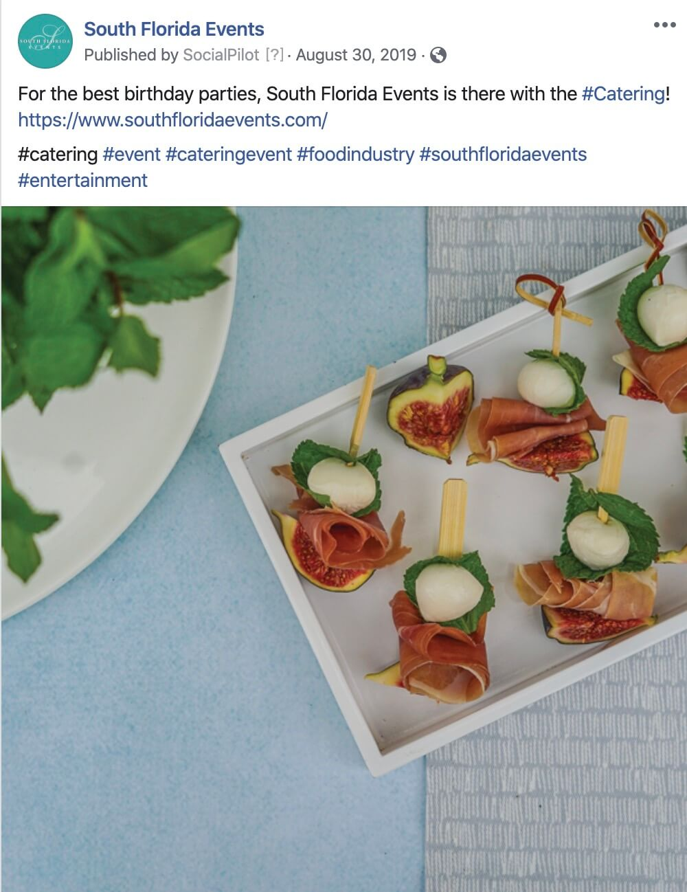 Catering Company Social Media Management