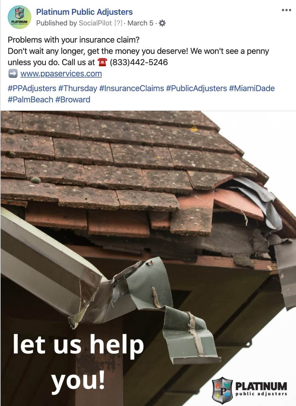 Social Media for Roofing Companies or Public Adjusters