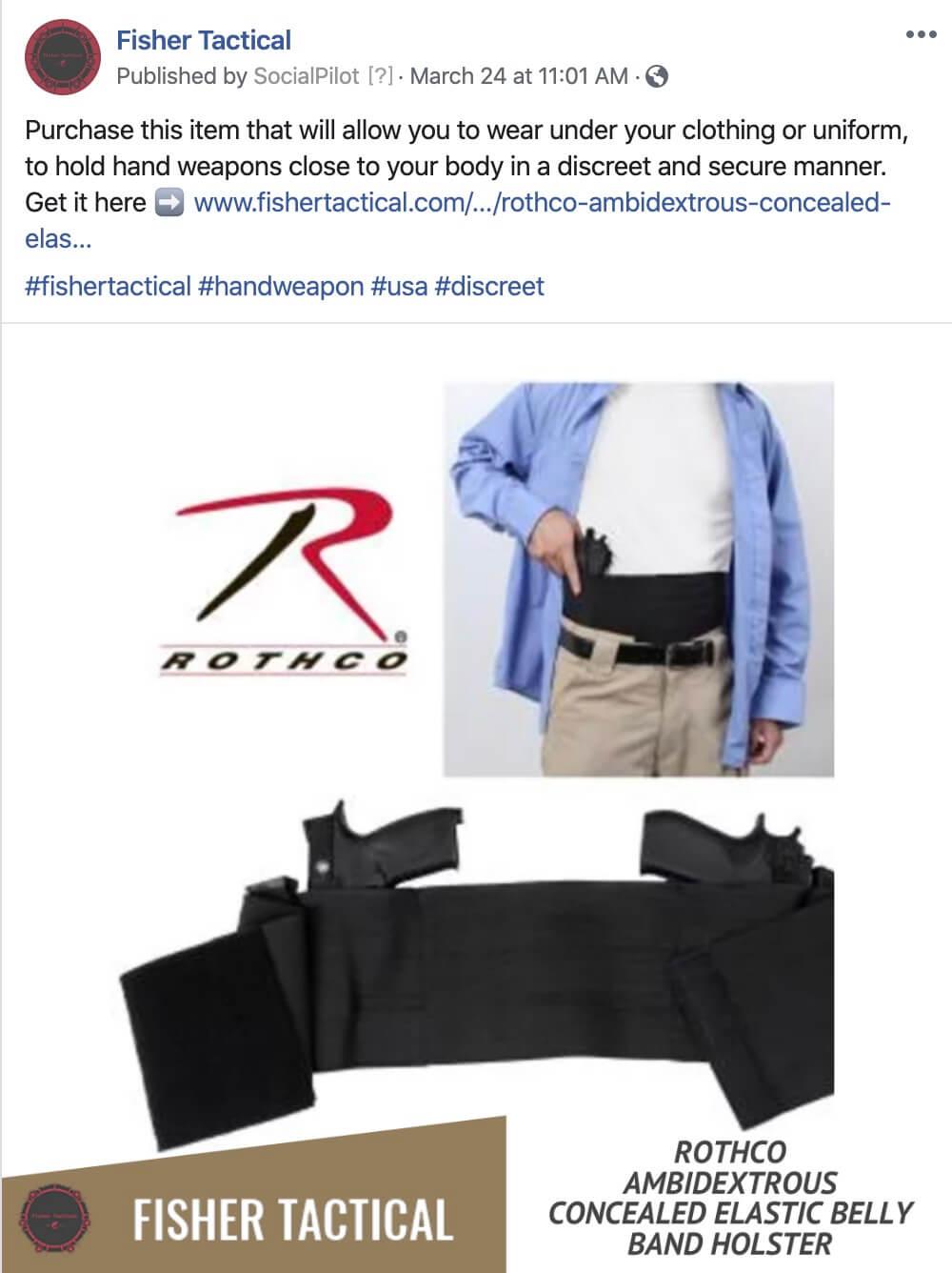 Social Media Postings for Tactical Industry