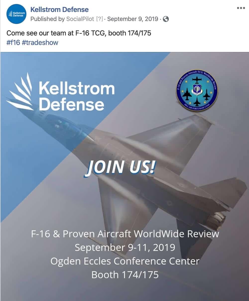 Social Media Postings for Defense Companies