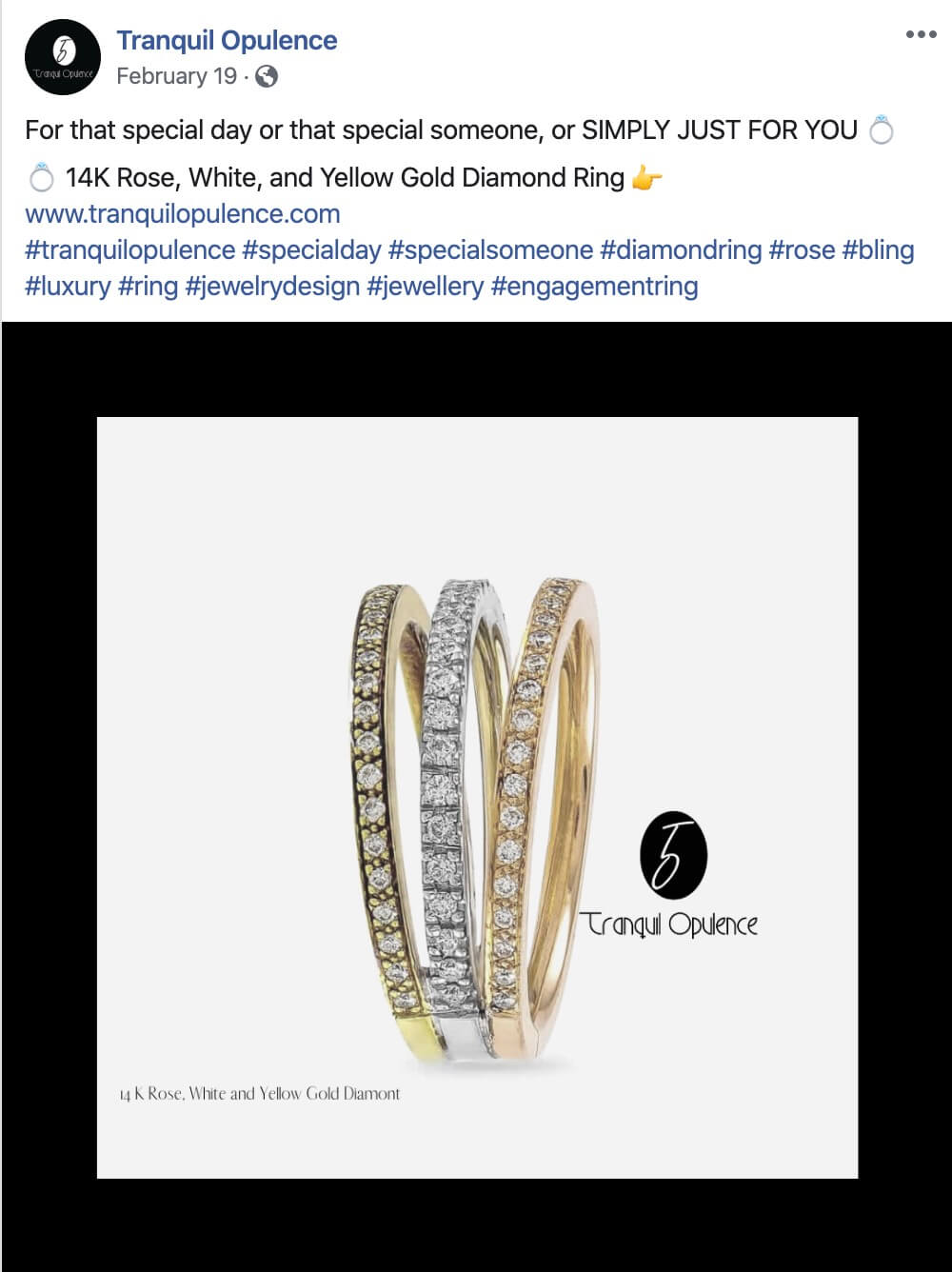 Social Media Management for Jewelry Company