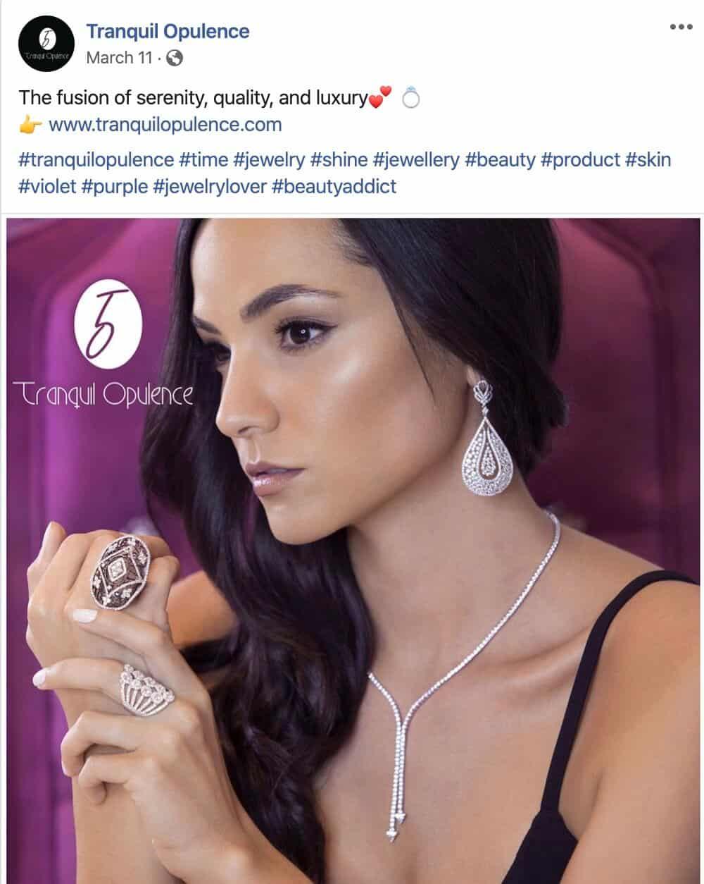 Social Media for Earrings and Rings