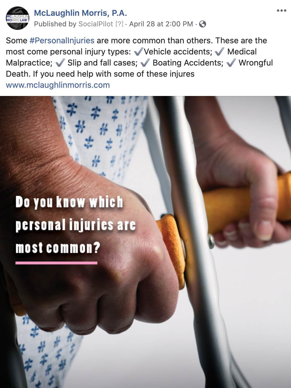 Personal Injury Social Media Management for Lawyer