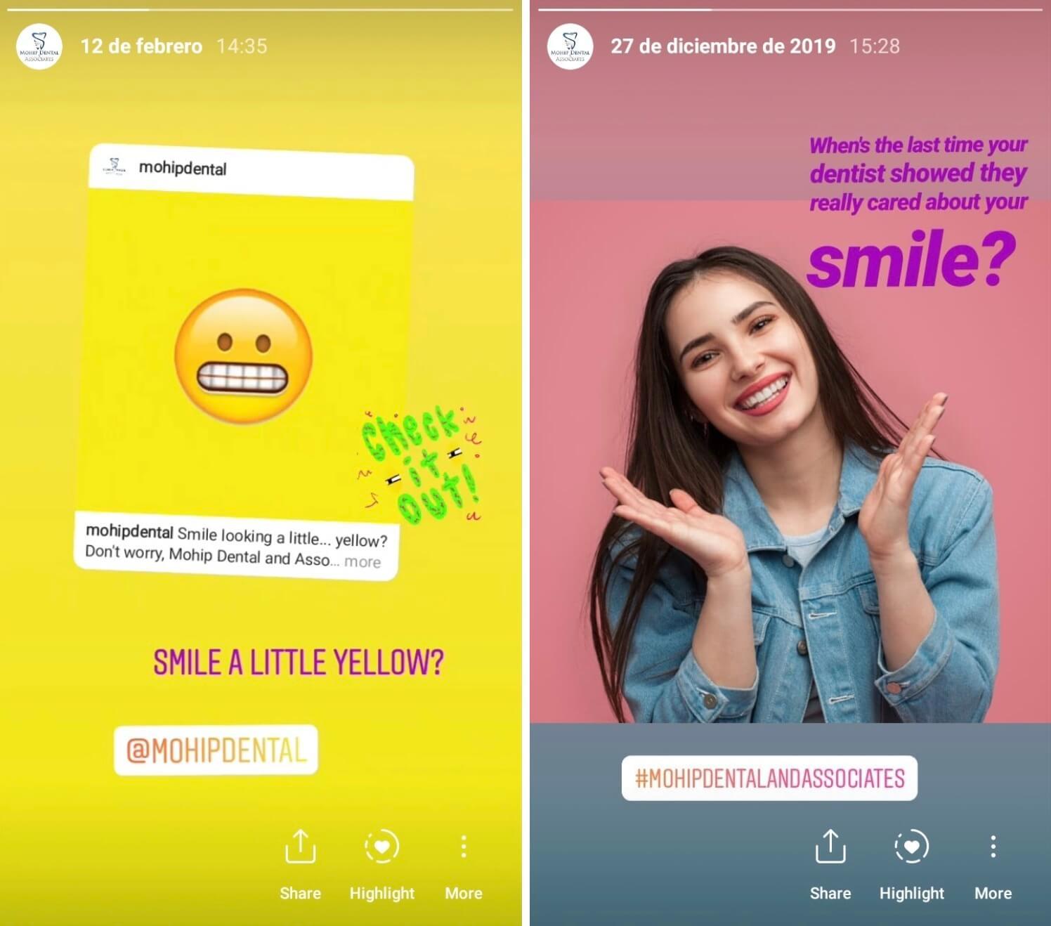 Dentist Social Media Posts